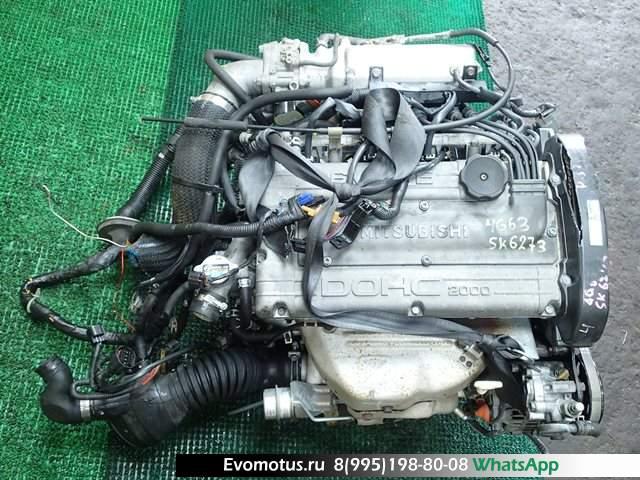 двигатель 4G63T на MITSUBISHI ECLIPSE D32A (мицубиси эклипс)