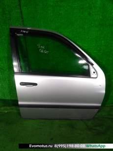 дверь на  TOYOTA  RAUM EXZ10;EXZ15 (Тойота Раум) СЕРЕБРИСТЫЙ заднийлевый