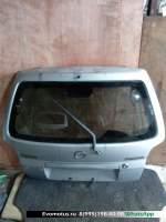 Дверь 5-я Mazda Demio DW3W  серебро