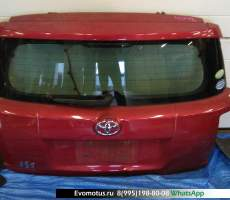 дверь пятая на 1nz-fe TOYOTA IST ncp110 (Тойота Ист) красный задняя