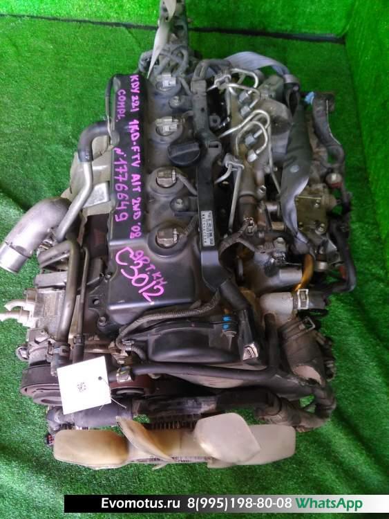 двигатель на 1KD-FTV TOYOTA  DYNA KDY221 (Тойота Дюна)