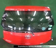дверь пятая на 1kr-fe TOYOTA PASSO kgc30 (Тойота Пассо) красный задняя