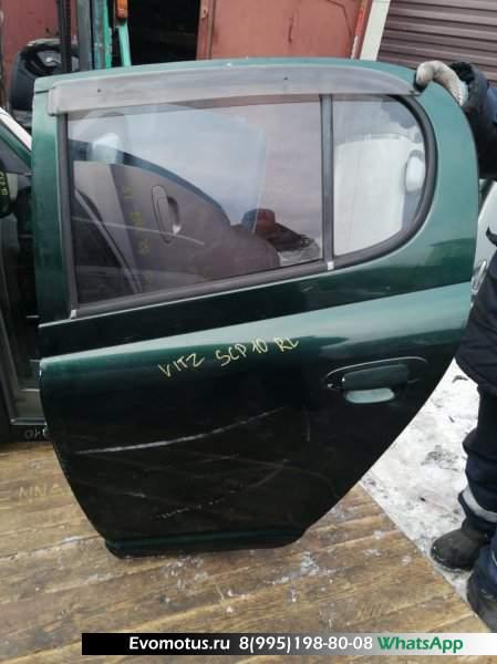 Дверь   TOYOTA VITZ SCP10  (Тойота Витц ) зелёный Задн Лев