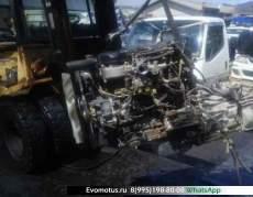 двигатель 4D34 на MITSUBISHI CANTER FE63CEV  (Мицубиси Кантер)