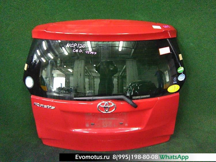 дверь пятая на 1nr-fe TOYOTA RACTIS ncp120 (Тойота Рактис ) красный задняя