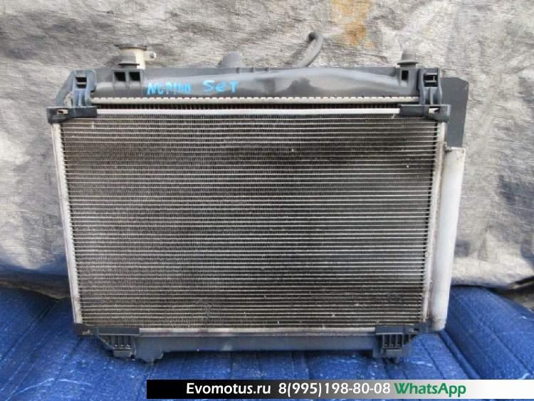 Радиатор двигателя  1NZ TOYOTA RACTIS NCP100  (Тойота Рактис )