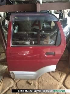 Дверь   TOYOTA CAMI J122G  (Тойота Ками) красный Задн Лев
